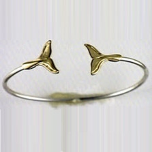 Whale Tail 14K Gold & Sterling Silver Bracelet | Kabana Jewelry | Kgsbr012