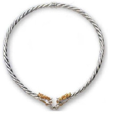 Horse 14K Gold & Sterling Silver Collar Necklace | Kabana Jewelry | Kgsnk092