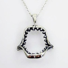 Shark Jaws Sterling Silver Necklace | Kabana Jewelry | KP168 -2