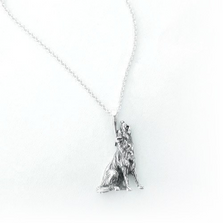 Howling Wolf Sterling Silver Pendant Necklace | Kabana Jewelry | KP292