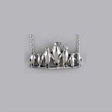 Penguin Sterling Silver Necklace | Kabana Jewelry | Kp641