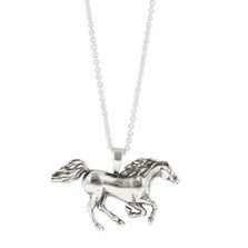 Racing Horse Sterling Silver Pendant Necklace | Kabana Jewelry | Kp891