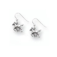 Horse Foal Sterling Silver Wire Earrings | Kabana Jewelry | Kse096