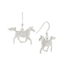 Striding Horse Sterling Silver Wire Earrings   Kabana Jewelry   Kse145