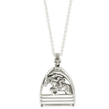 Jumping Horse Pendant Sterling Silver Necklace | Kabana Jewelry | Ksp188