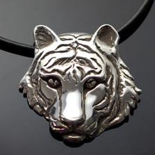 Tiger Silver Pendant Necklace | Anisa Stewart Jewelry | asjw1005