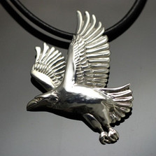 Eagle Sterling Silver Pendant Necklace | Anisa Stewart Jewelry | ASJw1012