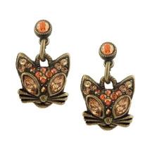Glamour Kitty Post Dangle Earrings | La Contessa Jewelry | LCER8851XG