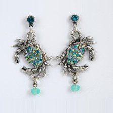 Crab and Starfish Dangle Earrings | La Contessa Jewelry | LCER9179