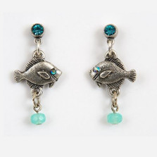 Baby Fish Dangle Earrings   La Contessa Jewelry   LCER9183