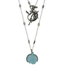 Mermaid Carved Necklace | La Contessa Jewelry | LCnk8065