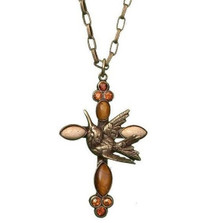 Hummingbird Cross Necklace | La Contessa Jewelry | LCNK8213