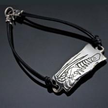 Lobster Sterling Silver Tag Bracelet | Anisa Stewart Jewelry | ASJbf1007