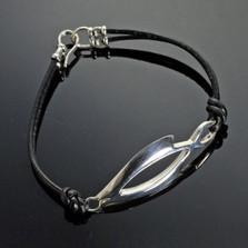 Open Fish Sterling Silver Bracelet | Anisa Stewart Jewelry | ASJbp1037