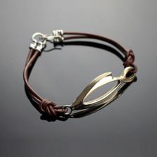 Open Fish Bronze Bracelet | Anisa Stewart Jewelry | ASJbrbp1037