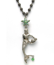 By the Sea Mermaid Necklace | La Contessa Jewelry | LCNK8563GR