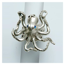 By the Sea Octopus Ring | La Contessa Jewelry | LCRG8560