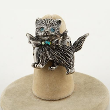 Glamour Kitty Adjustable Ring | La Contessa Jewelry | LCRG8851