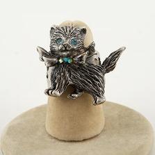 Glamour Kitty Adjustable Ring | La Contessa Jewelry | LCRG8851