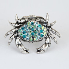 Crab Pave Ring | La Contessa Jewelry | LCRG9173BL