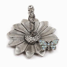 Butterfly on Sunflower Ring Stand | La Contessa Jewelry | LCRS6800