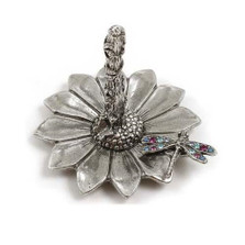 Dragonfly on Sunflower Ring Stand | La Contessa Jewelry | LCRS6901