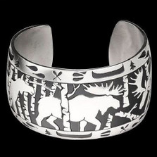 Moose Sterling Silver Bracelet |  Metal Arts Group Jewelry | MAG10206