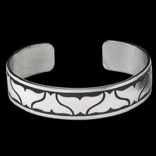Double Whale Tail Silver Cuff Bracelet |  Metal Arts Group Jewelry | MAG10210
