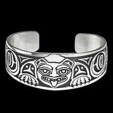 Biorka Bear Sterling Silver Cuff Bracelet |  Metal Arts Group Jewelry | MAG10212