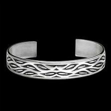 Fish Run Sterling Silver Cuff Bracelet |  Metal Arts Group Jewelry | MAG10501