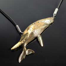 Humpback Whale Bronze Necklace | Anisa Stewart Jewelry | ASJbrs1006