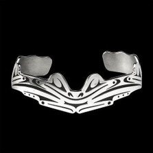 Frogs Sterling Silver Tribal Cuff Bracelet |  Metal Arts Group Jewelry | MAG11431