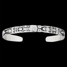 Totem Cuff Bracelet Sterling Silver |  Metal Arts Group Jewelry | MAG12102-S -2