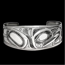 Raven Sterling Silver Tribal Cuff Bracelet    Metal Arts Group Jewelry   MAG12780