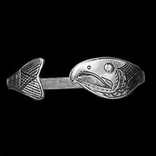 Salmon Tribal Sterling Silver Wrap Bracelet    Metal Arts Group Jewelry   MAG12818