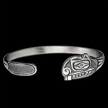 Beaver Tribal Silver Wrap Cuff Bracelet |  Metal Arts Group Jewelry | MAG12827