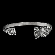 Owl Thin Sterling Silver Cuff Bracelet |  Metal Arts Group Jewelry | MAG12833