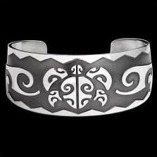Turtle Cuff Bracelet Honu Head   Michael Glass    Metal Arts Group Jewelry   MAG17001-S
