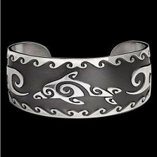 Dolphin Cuff Sterling Silver Bracelet |  Metal Arts Group Jewelry | MAG17002