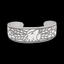 Wolf Sterling Silver Bracelet |  Metal Arts Group Jewelry | MAG17113