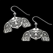 Biorka Bear Tribal Sterling Silver Earrings |  Metal Arts Group Jewelry | MAG20212