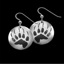 Bear Trax Sterling Silver Earrings |  Metal Arts Group Jewelry | MAG20601