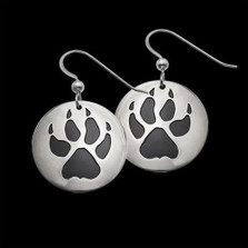 Wolf Trax Sterling Silver Earrings |  Metal Arts Group Jewelry | MAG20612