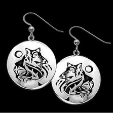 Wolf Earrings Maiden Clan |  Metal Arts Group Jewelry | MAG20904