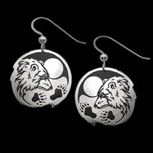 "Bear Sterling Silver Earrings ""Guardian"" 
