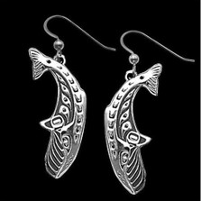 Whale Dive Sterling Silver Earrings |  Metal Arts Group Jewelry | MAG21116