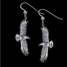 Flying Eagle Sterling Silver Earrings |  Metal Arts Group Jewelry | MAG21326