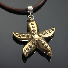 Starfish Bronze Pendant Necklace | Anisa Stewart Jewelry | ASJbrs1019
