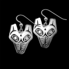 Wolf Tribal Sterling Silver Earrings |  Metal Arts Group Jewelry | MAG21406