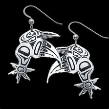 Hummingbird Sterling Silver Tribal Earrings |  Metal Arts Group Jewelry | MAG21916